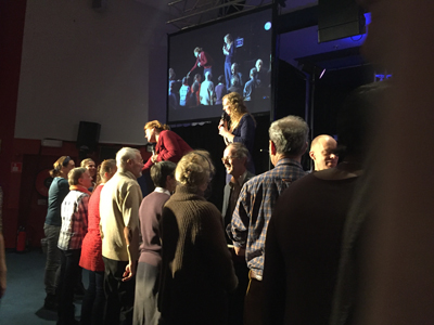 Prophesying over new salvations in Belgium.