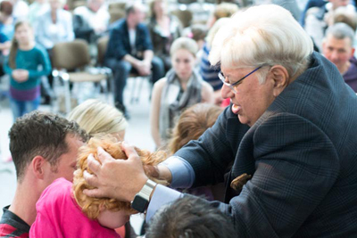 Blessing the children in Germany